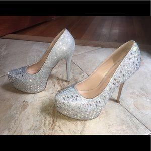 De Blossom Collection Silver Stilettos